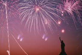 Lady Liberty w fireworks