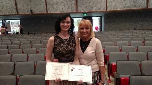 Tia Hackbush Outstanding Music Student 2015