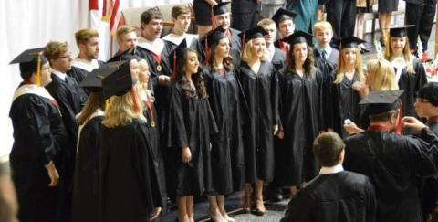 2015 Seniors at Graduation