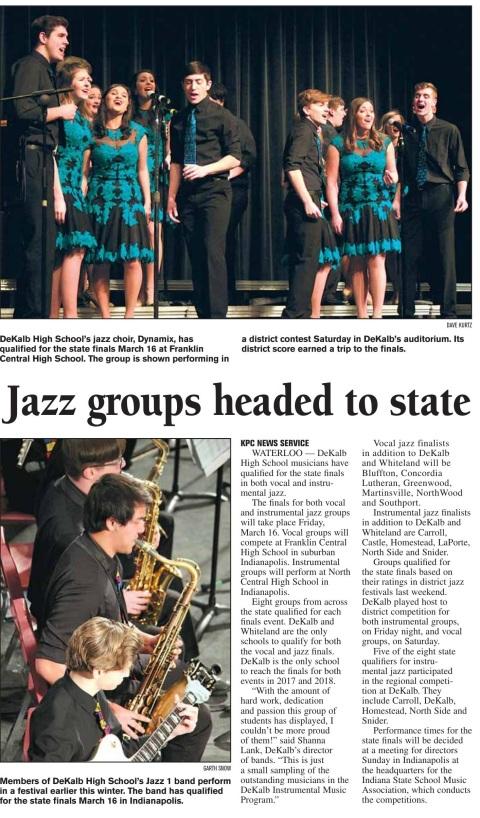 Jazz choir - jazz band